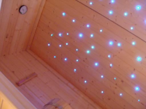 Sauna Sternenhimmel Licht Farbwechsler Glasfaser Sternenhimmel